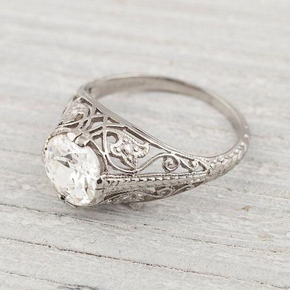 1 34 Carat Edwardian Vintage Engagement Ring