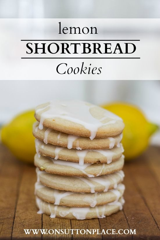 Lemon Shortbread Cookies | Recipe