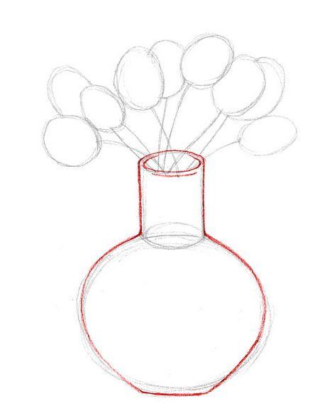 Draw Flowers In A Vase Wikihow Flower Art Pinterest