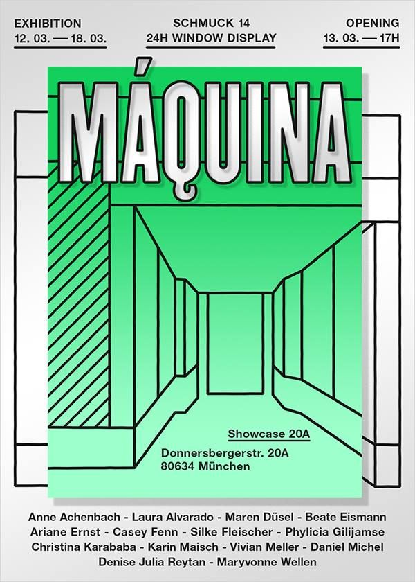 during SCHMUCK :Maquina - window display - 12-18 mars