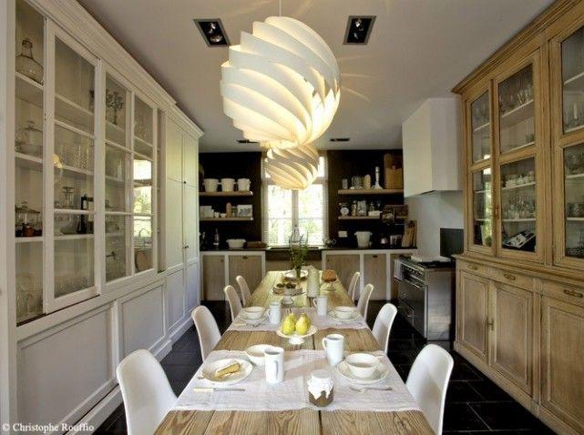 salle a manger bois et blanc  Rooms  Pinterest