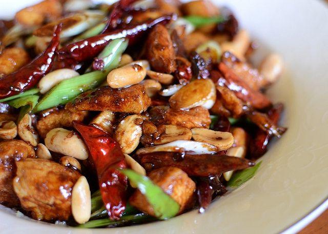 Gong Bao Ji Ding aka gong bao chicken   Stuff I'd Eat   Pinterest