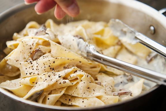 pappardelle with chanterelles recipe | use real butter