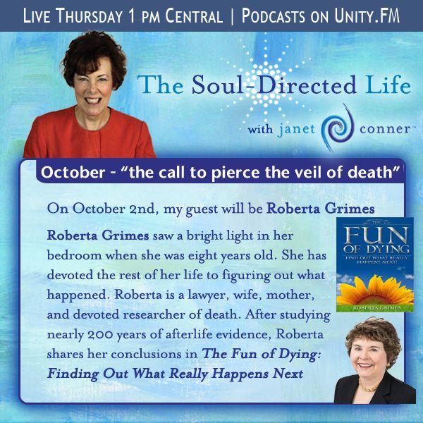 ... Time on Thursday at: http://www.unity.fm/program/TheSoulDirectedLife