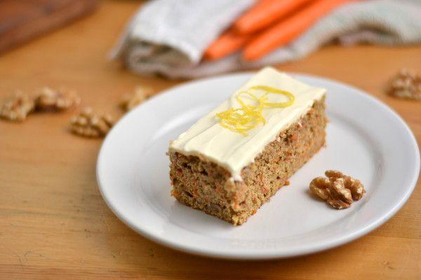 Whole Wheat, Honey Sweetened Carrot Cake w/ Skinny Cream Cheese ...