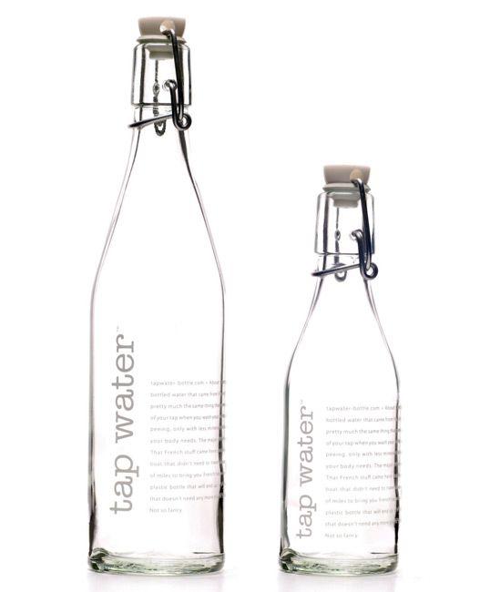 tap water packaging