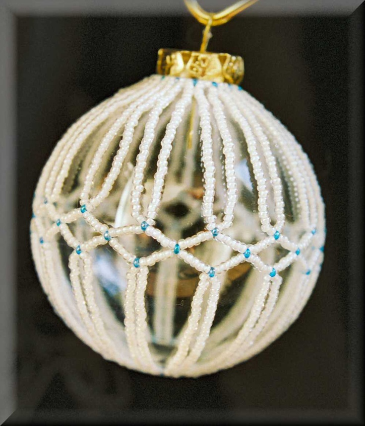 Free beaded christmas ornament covers jewelry holidays pinterest