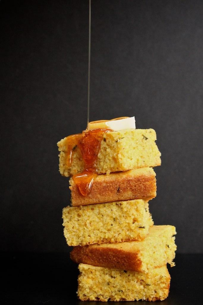 Brown butter rosemary orange cornbread | YUMMY BREADS | Pinterest