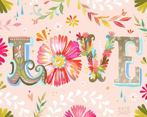 Large Format - LOVE horizontal print