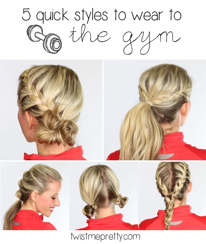 youtube short hairstyles : quick hairstyles that are perfect to wear to the gym, to exercise ...