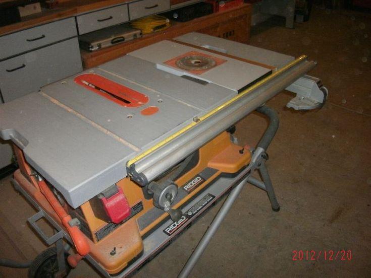 Table Saw Router : Ridgid table saw router table build.  Woodworking  Pinterest