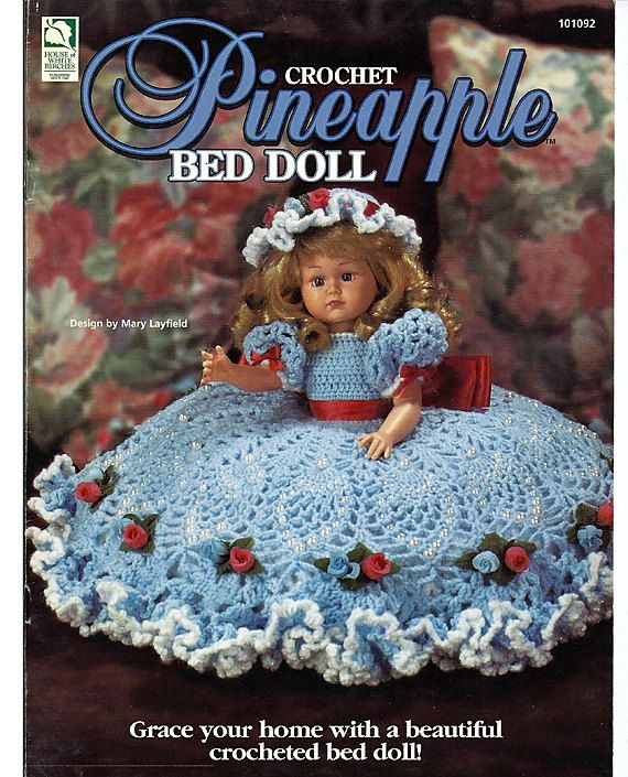 Crochet pattern pineapple bed doll house of white birches 101092