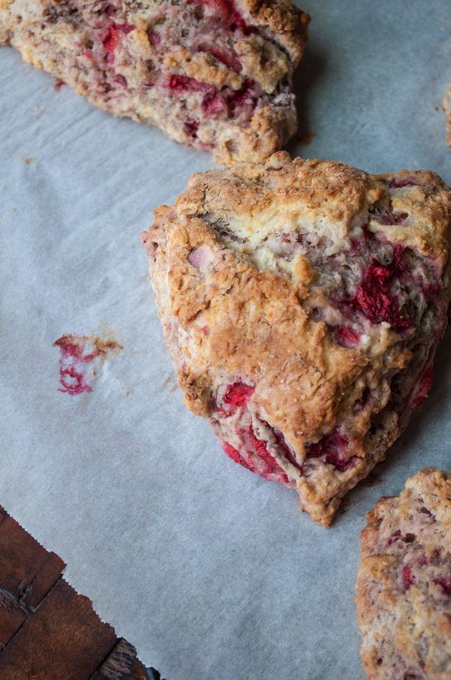 Fresh Strawberry Scones - Farmgirl Gourmet
