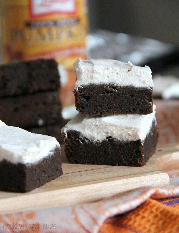 ingredient pumpkin brownies...well, plus frosting. :)