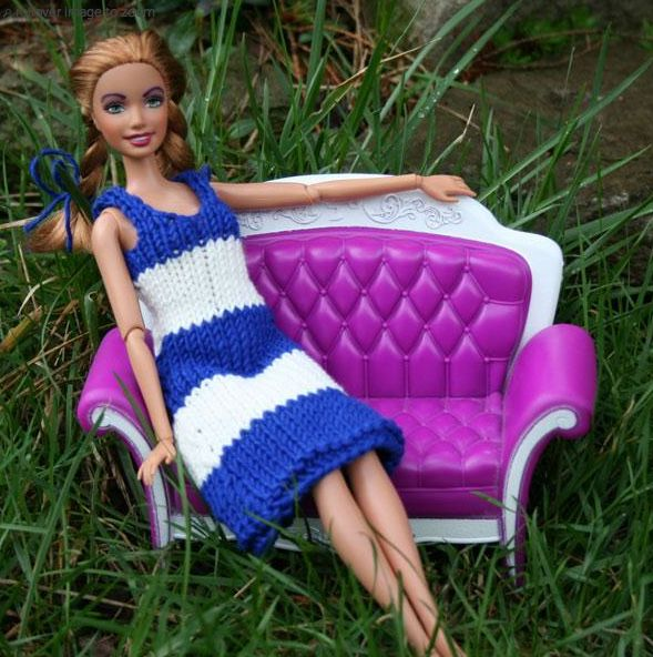 Free Knitting Patterns For Barbie : Free Barbie Doll Dress Pattern Doll-Barbie Pinterest