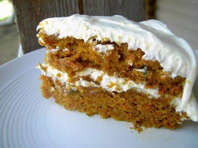 Vegan Thyme: Vegan Carrot Pumpkin Cake with Orange Zest Frostin...
