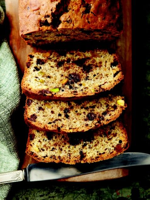 Chocolate Chip Pistachio Pound Cake | Recipe