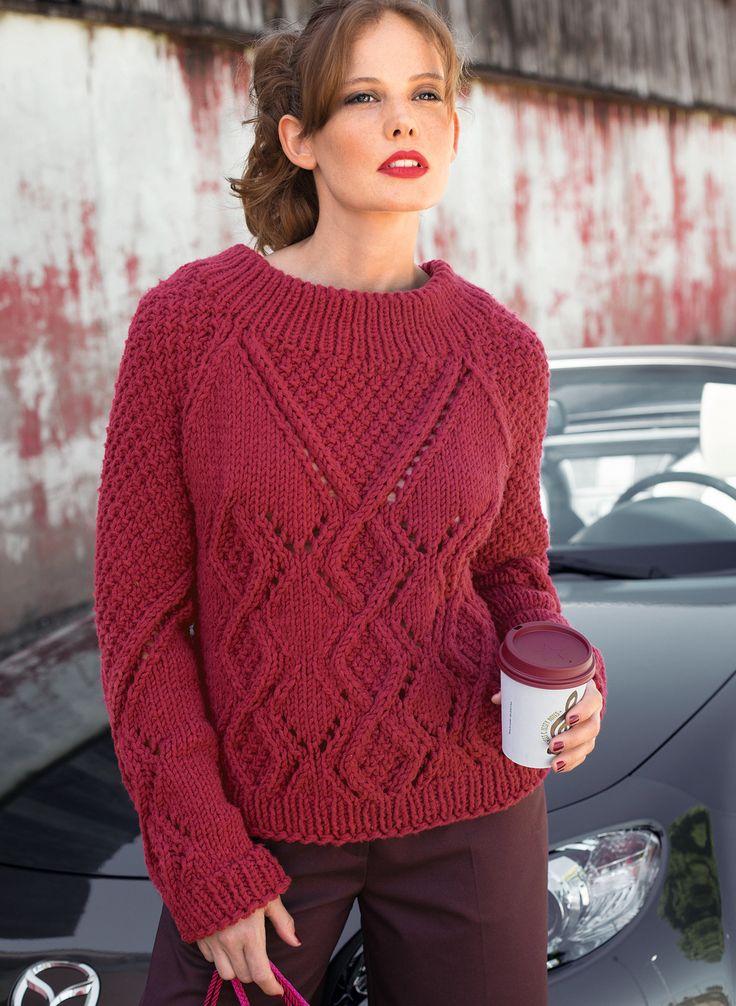 Узоры вязания свитера женского 183