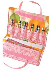 Crayon Art Folio Tote Pattern Download from Anniescatalog.com -- The Crayon Art Folio pattern is easy to make and always a big hit at birthday parties and holidays. Great for long car rides while traveling.