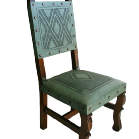 Turquoise leather dining chairs log home living pinterest - Turquoise upholstered dining chair ...