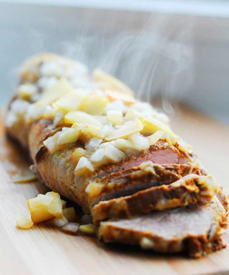 Apple Pork Tenderloin | apple tree recipes | Pinterest