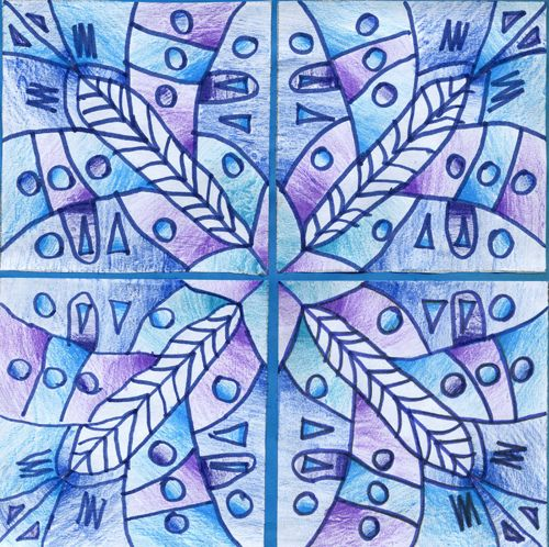 Value And Balance In Art : Beautiful snowflake symmetry art lessons pinterest