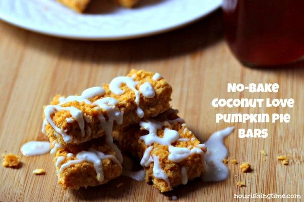 Coconut Love Pumpkin Pie Bars #paleo