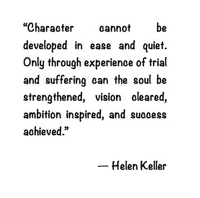 Helen keller quotes character helen keller quote about character think about it altavistaventures Images