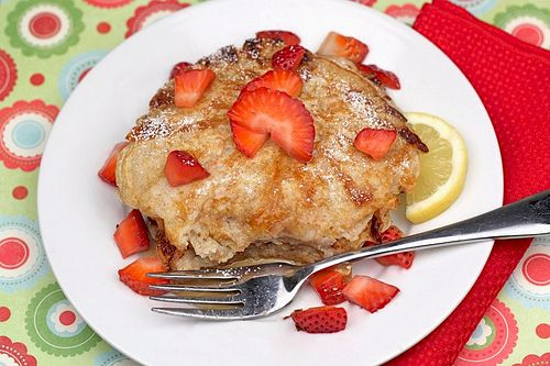 Lemon Cottage Cheese Pancakes with Strawberries | Recipe