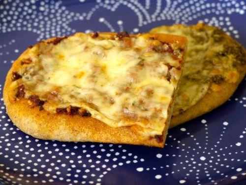 Two Cheese Pesto Pizza Recipe — Dishmaps