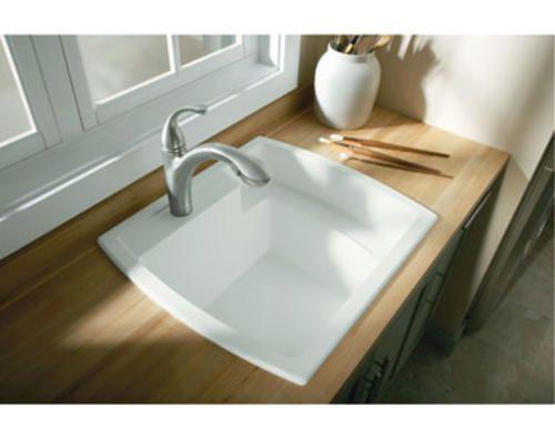 Latitude Self-rimming Utility Sink, 25x22 at Menards