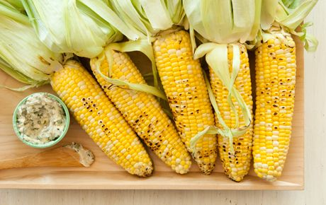 Corn on the Cob with Feta and Herbs | Recipe