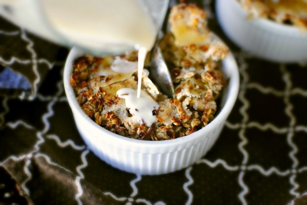 pour more cream....Oatmeal Brulee with Brown Buttered Pears and ...