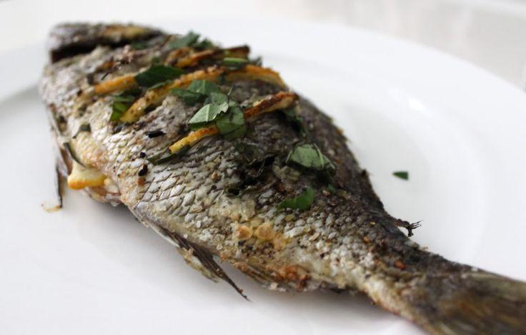 whole roasted fish i fish pinterest