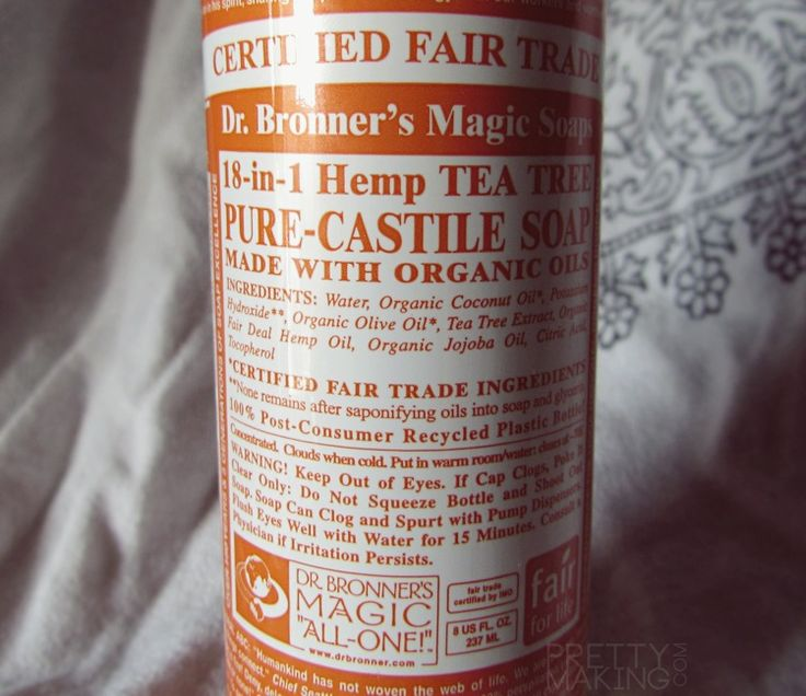 What i use to wash my makeup brushes dr bronner s hemp tea tree pure