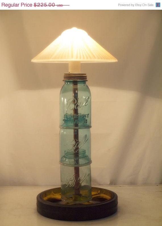 repurposed mason jar lamp industrial lighting love this but it needs. Black Bedroom Furniture Sets. Home Design Ideas