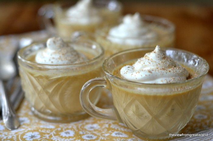 Pumpkin Pot de Creme with Maple Whipped Cream via view from the great ...