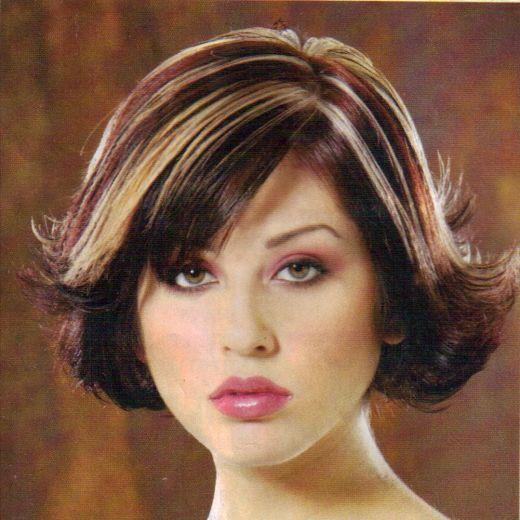 Dark hair multi tone highlights | Chunky highlights ...