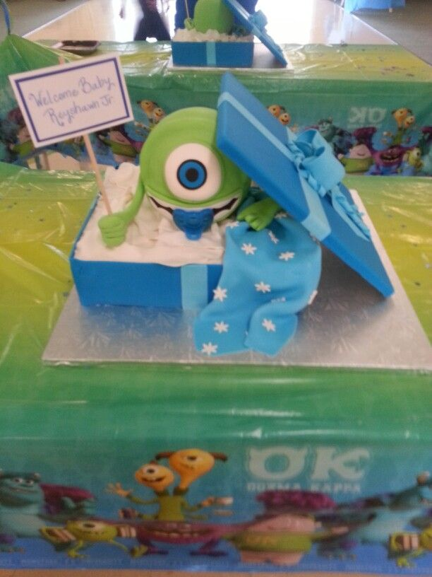 monster 39 s inc baby shower cake baby shower ideas pinterest