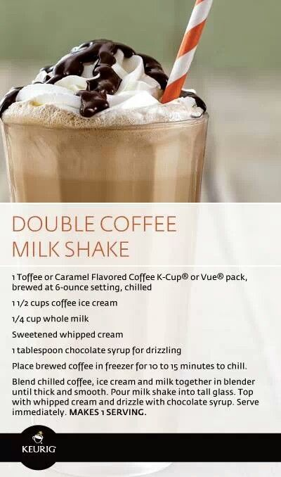 Double coffee yummmmmm milk shake | Food to Try | Pinterest