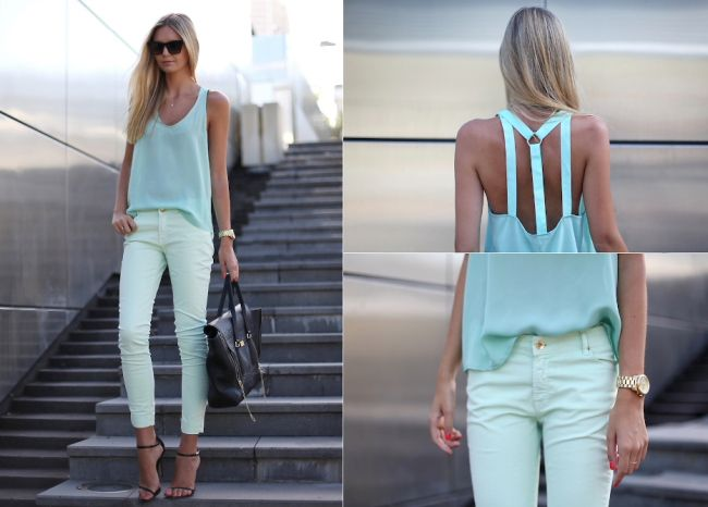LOVE this outfit, LOVE that Mint is the color of the season :)