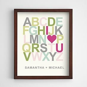 U Alphabet In Heart personalized i heart u alphabet wall art   Some of My Favorite Things ...