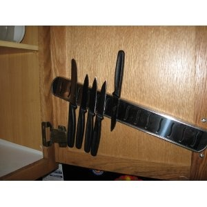 Kitchen Knife Storage Ideas : knife storage - thinking of doing this as way to childproof and keep ...