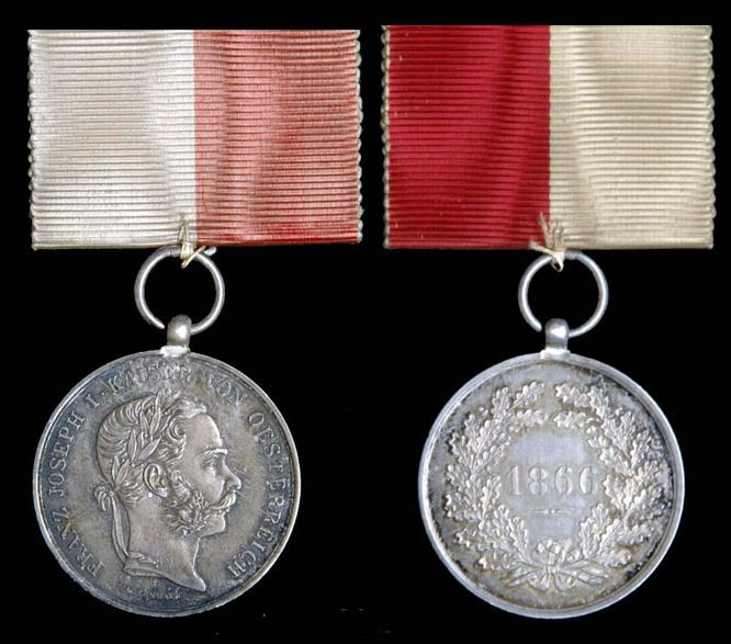 Prague Volunteers Commemorative Medal 1866, in silver