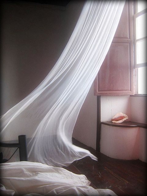 That light breeze by fleur robertson beauty pinterest - White bedroom with flowing curtains ...