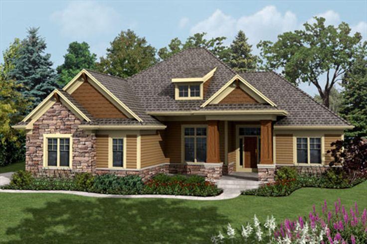 Craftsman elevation farmhouse floor plans pinterest for Craftsman home elevations