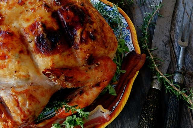 Smoky Paprika-Bacon Roasted Turkey | Cooking! | Pinterest