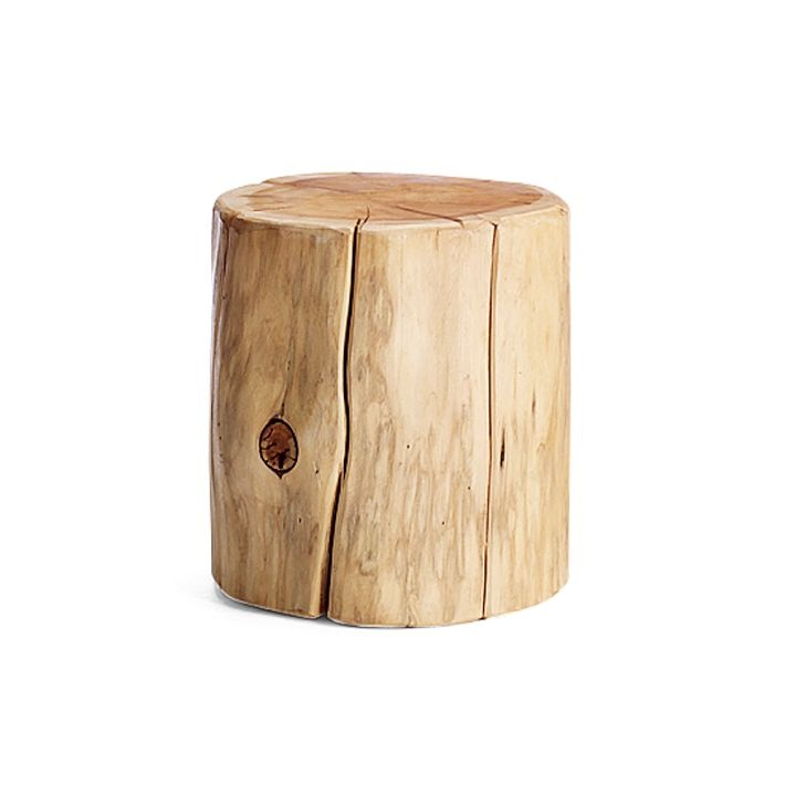 Natural tree stump side table for Wood stump end table