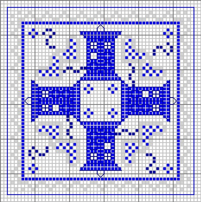 Tardis biscornu pattern