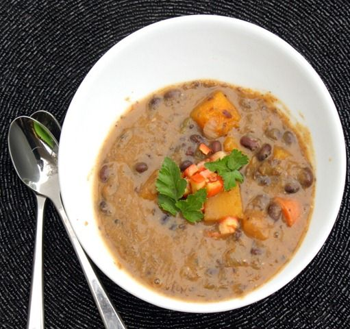 Black Bean and Butternut Squash soup | Food | Pinterest
